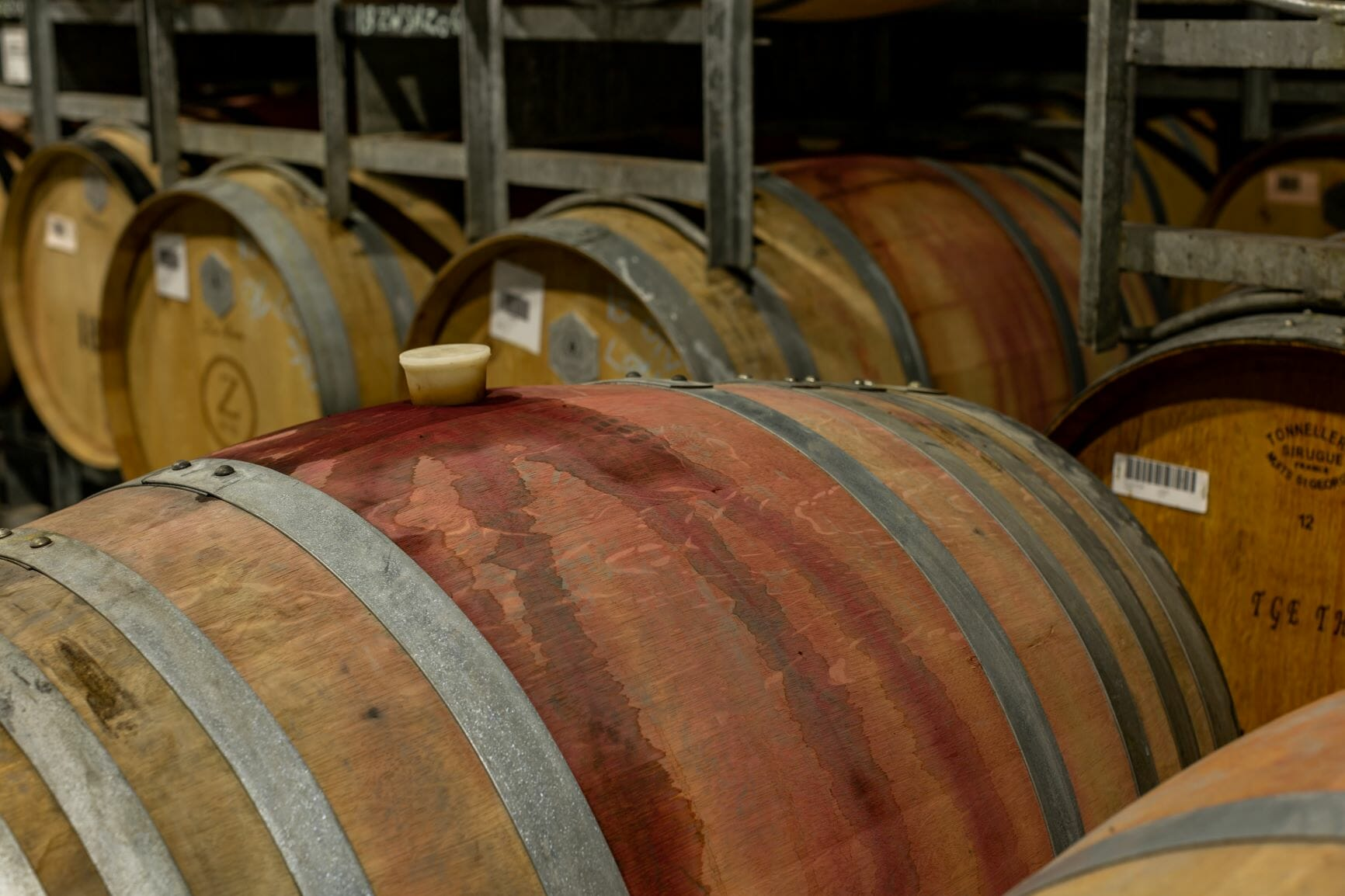 barrel wine spill